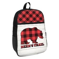 Lumberjack Plaid Kids Backpack (Personalized)