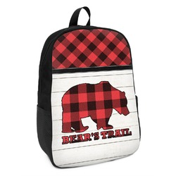 Lumberjack Plaid Kids Backpack (Personalized)