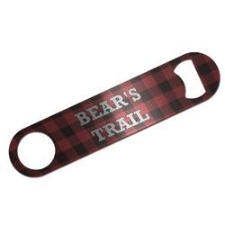 Lumberjack Plaid Bar Bottle Opener (Personalized)