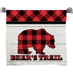 Lumberjack Plaid Full Print Bath Towel (Personalized)
