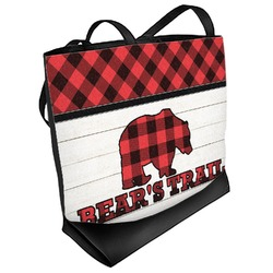Lumberjack Plaid Beach Tote Bag (Personalized)