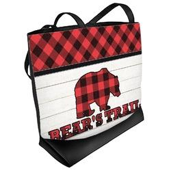 Lumberjack Plaid Beach Tote Bag (Personalized)