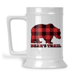 Lumberjack Plaid Beer Stein (Personalized)