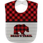 Lumberjack Plaid Baby Bib (Personalized)