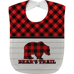 Lumberjack Plaid Baby Bib (Personalized)