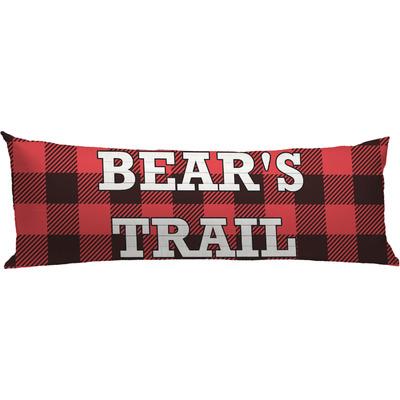 Lumberjack Plaid Body Pillow Case (Personalized)