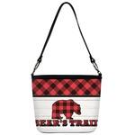 Lumberjack Plaid Bucket Bag w/ Genuine Leather Trim (Personalized)