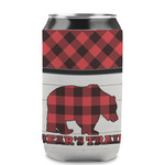 Lumberjack Plaid Can Sleeve (12 oz) (Personalized)