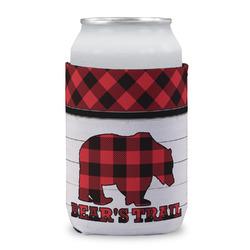 Lumberjack Plaid Can Sleeve (12 oz) (Personalized)