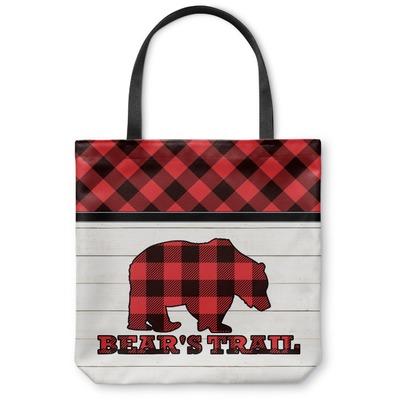Lumberjack Plaid Canvas Tote Bag (Personalized)