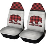 Lumberjack Plaid Car Seat Covers (Set of Two) (Personalized)