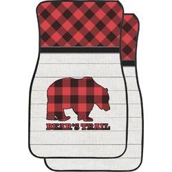 Lumberjack Plaid Car Floor Mats (Front Seat) (Personalized)