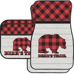 Lumberjack Plaid Car Floor Mats (Personalized)