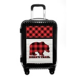 Lumberjack Plaid Carry On Hard Shell Suitcase (Personalized)