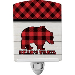Lumberjack Plaid Ceramic Night Light (Personalized)