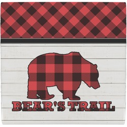 Lumberjack Plaid Ceramic Tile Hot Pad (Personalized)