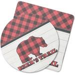 Lumberjack Plaid Rubber Backed Coaster (Personalized)