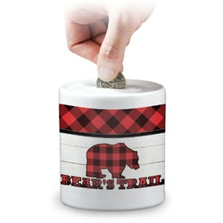 Lumberjack Plaid Coin Bank (Personalized)