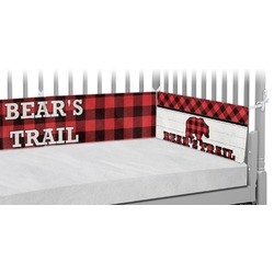 Lumberjack Plaid Crib Bumper Pads (Personalized)