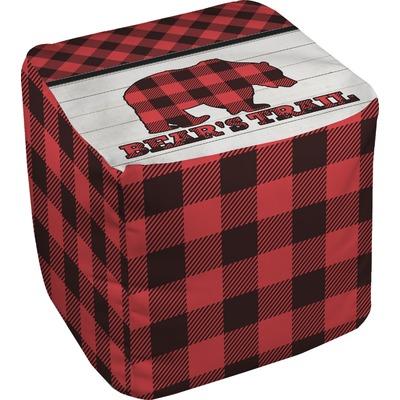 Lumberjack Plaid Cube Pouf Ottoman (Personalized)