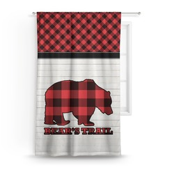 Lumberjack Plaid Curtain (Personalized)