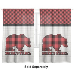 "Lumberjack Plaid Curtains - 20""x54"" Panels - Lined (2 Panels Per Set) (Personalized)"