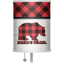 "Lumberjack Plaid 7"" Drum Lamp Shade (Personalized)"