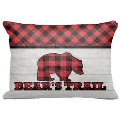"Lumberjack Plaid Decorative Baby Pillowcase - 16""x12"" (Personalized)"