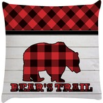 Lumberjack Plaid Decorative Pillow Case (Personalized)
