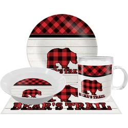 Lumberjack Plaid Dinner Set - 4 Pc (Personalized)