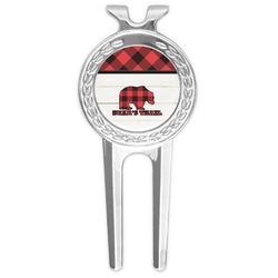 Lumberjack Plaid Golf Divot Tool & Ball Marker (Personalized)