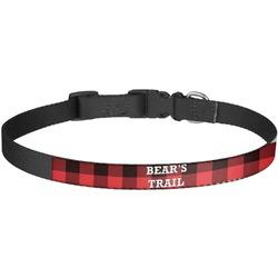 Lumberjack Plaid Dog Collar - Large (Personalized)