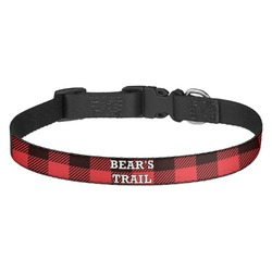Lumberjack Plaid Dog Collar - Multiple Sizes (Personalized)