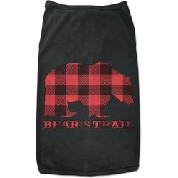 Lumberjack Plaid Black Pet Shirt (Personalized)