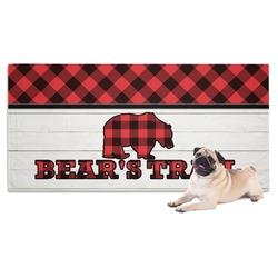 Lumberjack Plaid Dog Towel (Personalized)