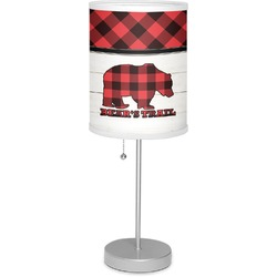 "Lumberjack Plaid 7"" Drum Lamp with Shade (Personalized)"