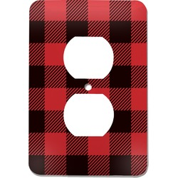 Lumberjack Plaid Electric Outlet Plate (Personalized)
