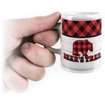 Lumberjack Plaid Espresso Cups (Personalized)