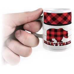 Lumberjack Plaid Espresso Cups (Personalized)