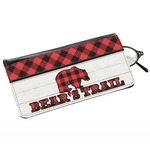 Lumberjack Plaid Genuine Leather Eyeglass Case (Personalized)