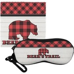 Lumberjack Plaid Eyeglass Case & Cloth (Personalized)