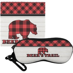 Lumberjack Plaid Eyeglass Case & Cloth (Personalized)