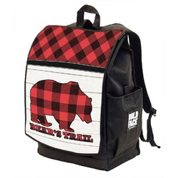 Lumberjack Plaid Backpack w/ Front Flap  (Personalized)