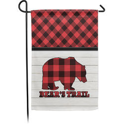 Lumberjack Plaid Garden Flag - Single or Double Sided (Personalized)