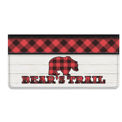 Lumberjack Plaid Genuine Leather Checkbook Cover (Personalized)