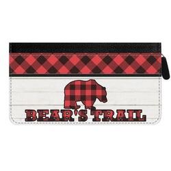 Lumberjack Plaid Genuine Leather Ladies Zippered Wallet (Personalized)