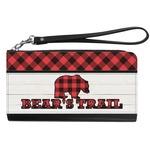 Lumberjack Plaid Genuine Leather Smartphone Wrist Wallet (Personalized)
