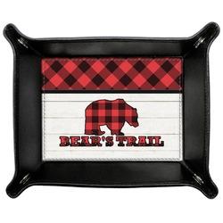 Lumberjack Plaid Genuine Leather Valet Tray (Personalized)