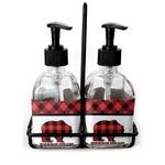 Lumberjack Plaid Soap/Lotion Dispensers (Glass) (Personalized)