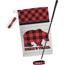 Lumberjack Plaid Golf Towel Gift Set (Personalized)
